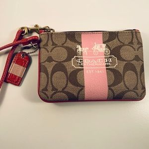 Coach Signature Coated Canvas Mini Skinny ID Case